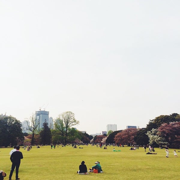 Photo taken at Shinjuku Gyoen by Amit S. on 4/12/2015