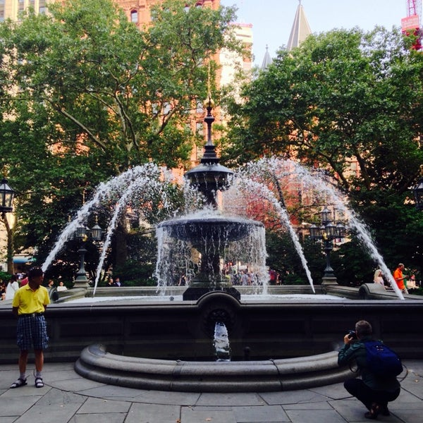 Photo taken at City Hall Park by Beth F. on 7/26/2014
