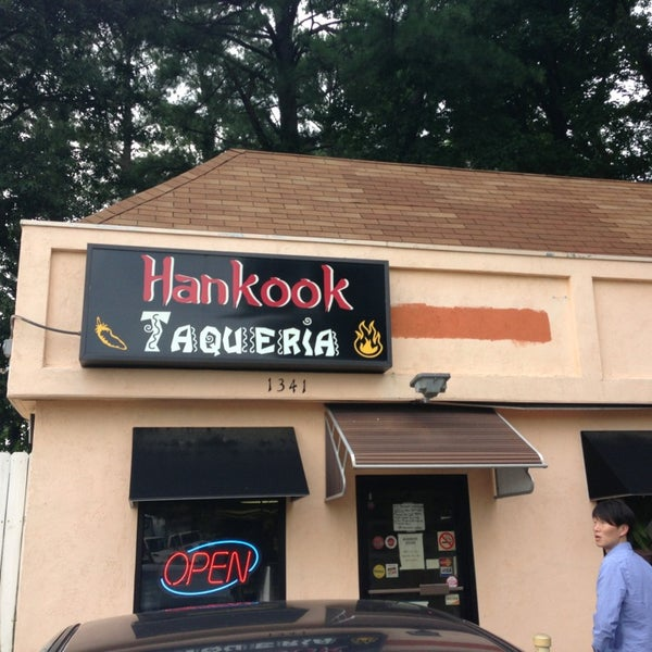 Photo taken at Hankook Taqueria by Sande E. on 7/27/2013