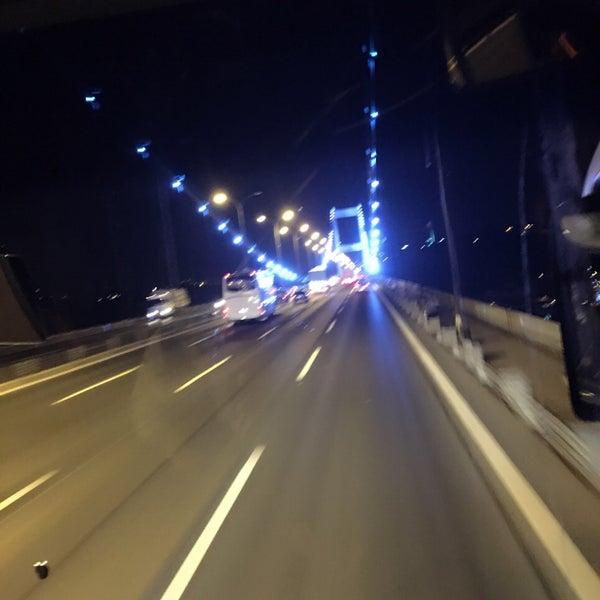 Photo taken at Fatih Sultan Mehmet Bridge by 👑Deniz Y. on 2/15/2016