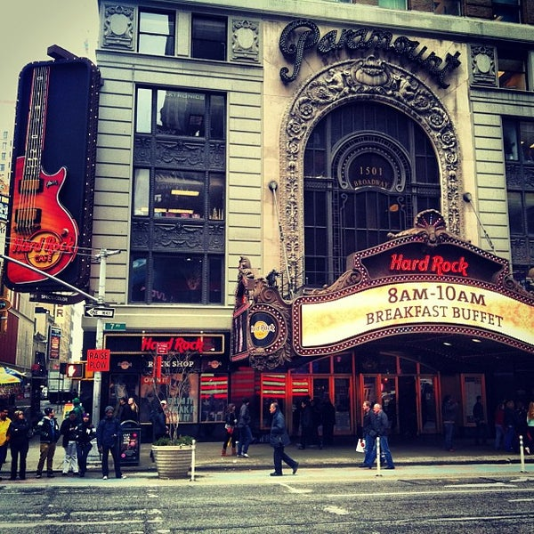 Hard Rock Cafe New York Theater District Tips - Map of hard rock cafes in the us