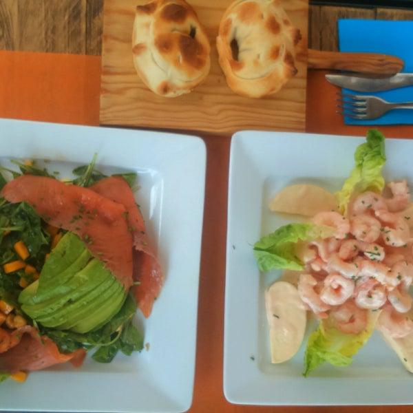 Two perfect salads, La Educada and Prawns, empanadas are also so warm and tasty! Overall pure perfection :-)