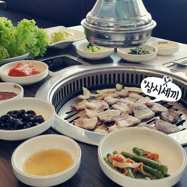 Photo taken at Daorae Korean BBQ Restaurant by Yukii L. on 9/10/2015