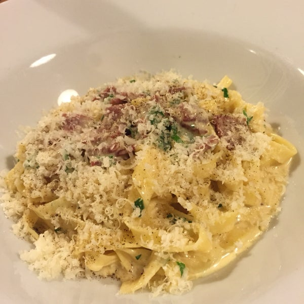 Had the fettuccine carbonara and it was fantastic! Fresh pasta and nicely done carbonara sauce. Been eating a lot of Turkish food and it was great to have some comforting flavors.