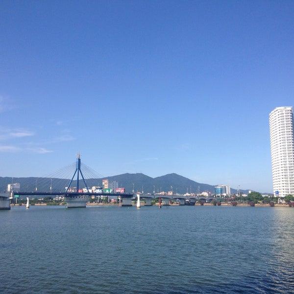 Photo taken at Han River Bridge by Do Hyun K. on 4/8/2015