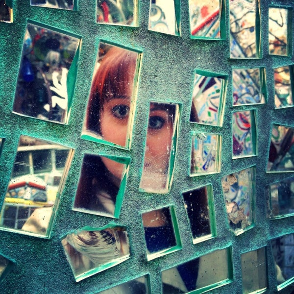 Photo taken at Philadelphia's Magic Gardens by Tricia T. on 4/6/2013