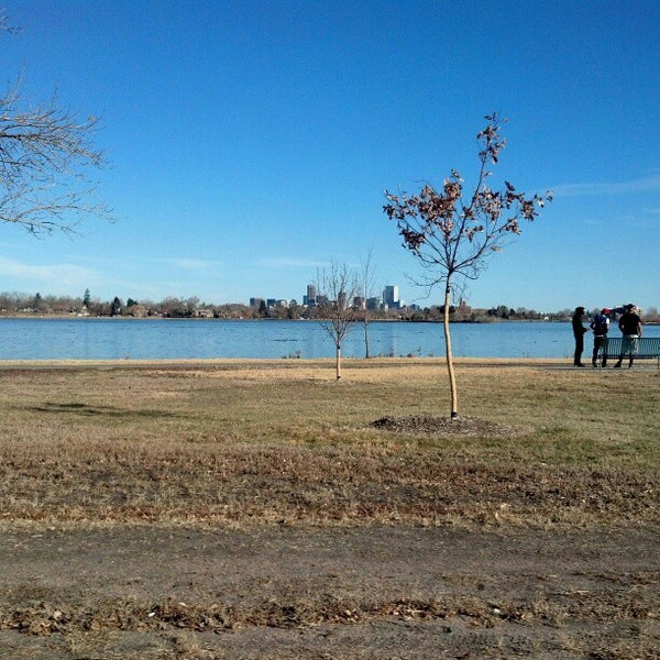 Photo taken at Sloan's Lake Park by Oscar M. on 11/17/2012