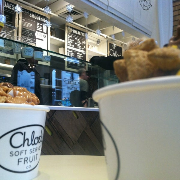 Photo taken at Chloe's Soft Serve Fruit Co. by Jackie S. on 1/19/2013