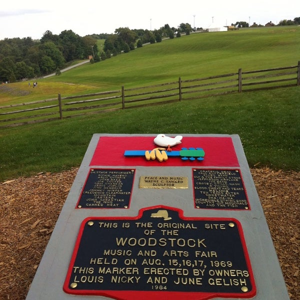 Photo taken at Woodstock Festival Concert Site/Monument by Anna-Marie W. on 7/30/2014