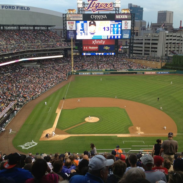 Photo taken at Comerica Park by Paul K. on 7/28/2013