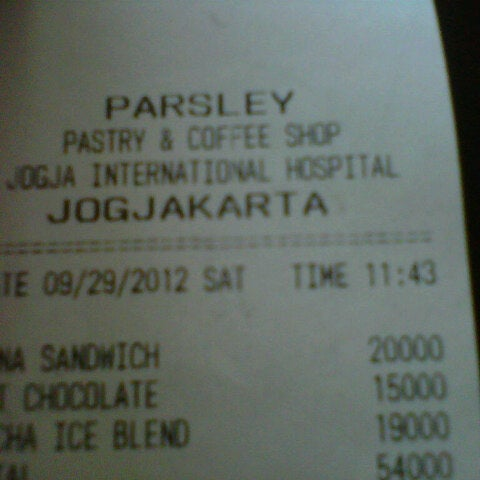 Photo taken at Parsley Bakery & Cake Shop by Wawan S. on 9/29/2012