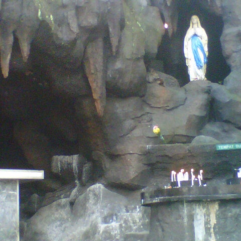 Photo taken at Gua Maria Kerep by Fir F. on 6/1/2013