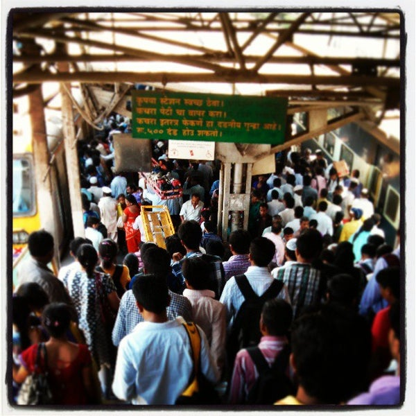 Photo taken at Dadar Railway Station by Sumant S. on 4/29/2013