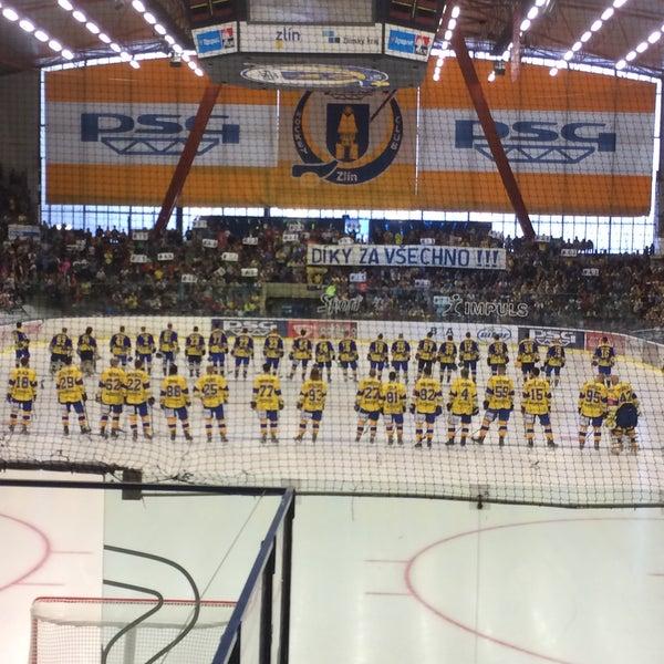 Photo taken at Zimní stadion Luďka Čajky by David M. on 9/2/2016