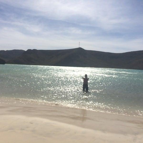 Photo taken at Playa Pichilingue by Rodrigo L. on 11/17/2015