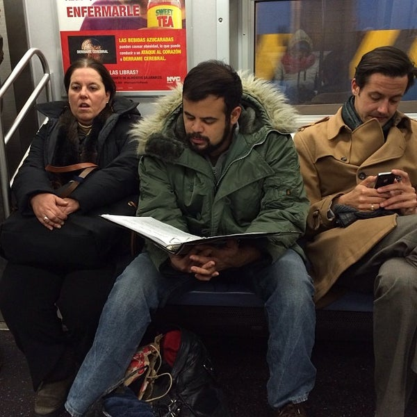 Photo taken at MTA Subway - York St (F) by Grace K. on 1/7/2014