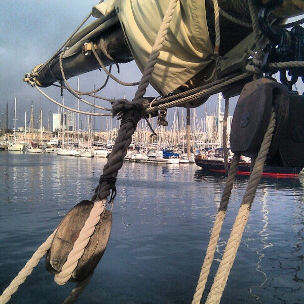 Photo taken at OneOcean Port Vell Barcelona by Iago V. on 2/24/2013