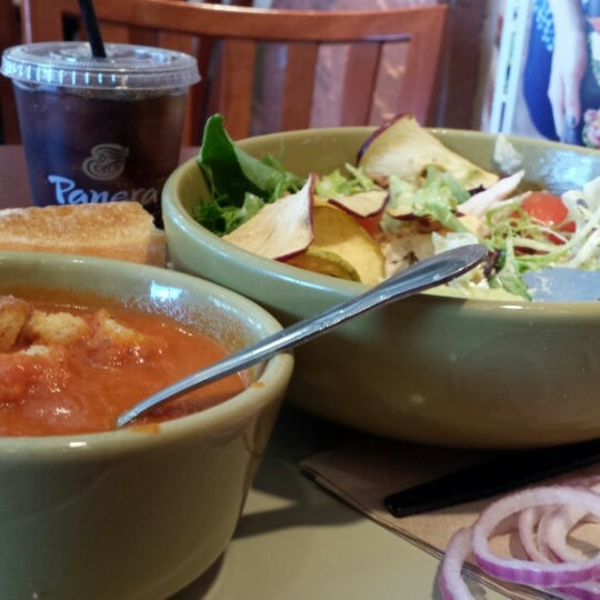 Photo taken at Panera Bread by Akos A. on 3/20/2014