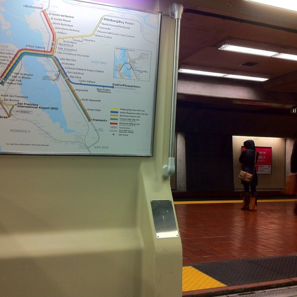 Photo taken at Civic Center/UN Plaza BART Station by takahiro m. on 3/10/2013