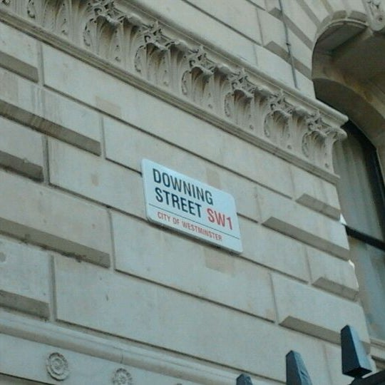 Photo taken at 10 Downing Street by Daniel W. on 11/15/2011