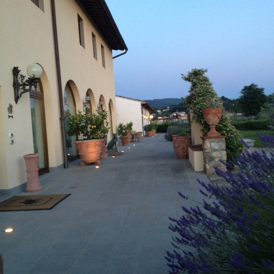 Photo taken at Villa Olmi Firenze by Ubaldina on 6/14/2012