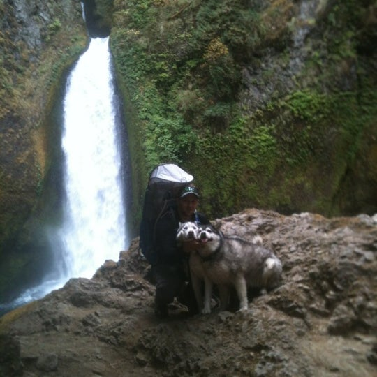 Photo taken at Wahclella Falls Trail by Maxwell H. on 9/23/2012