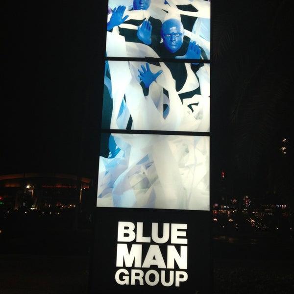 Photo taken at Blue Man Group at Universal CityWalk by Katiria M. on 3/6/2013