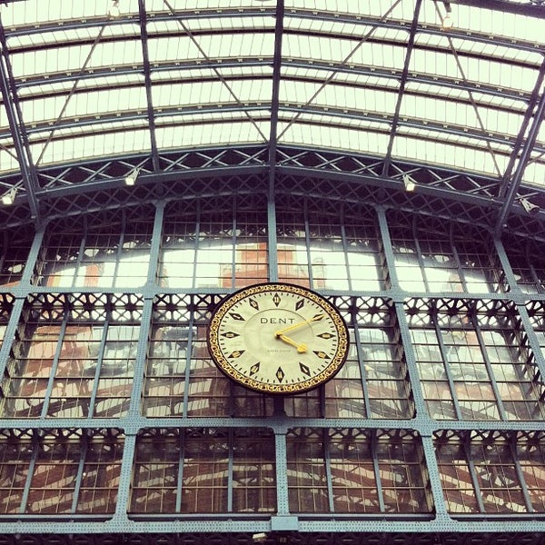 Photo taken at London St Pancras International Railway Station (STP) by Barbarella B. on 6/10/2013