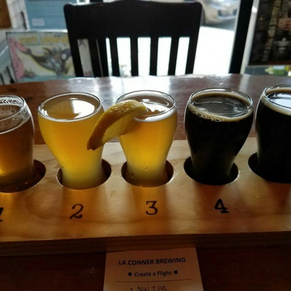 Photo taken at La Conner Brewing Company by Kelly A. on 4/9/2017