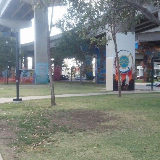 Photo taken at Chicano Park by Darryl P. on 4/1/2014