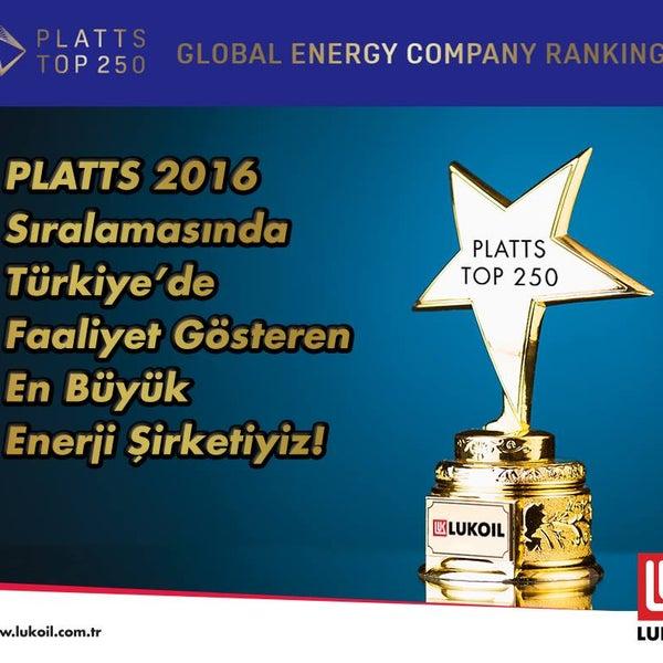 Petrol fiyatları raporlaması alanındaki en saygın ajanslardan S&P Global PLATTS'ın 2016 listesinde dünya genelinde 6. olduk! http://bit.ly/PLATTS #LukoilTürkiye##yılmazpetrol##yozgat#