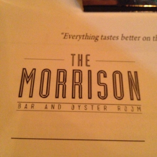 Photo taken at The Morrison Bar & Oyster Room by Felipe Andres H. on 10/24/2012