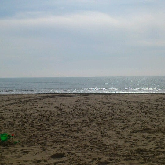 Photo taken at Platja de Calafell by Albert S. on 3/3/2013