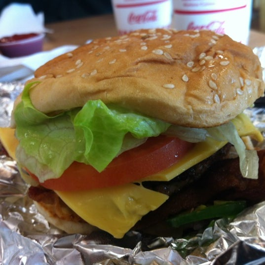 Photo taken at Five Guys by Gina T. on 12/11/2012