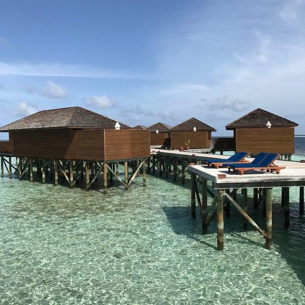 Photo taken at Vilamendhoo Island Resort & Spa by Elaine C. on 7/14/2017