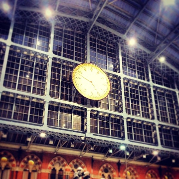 Photo taken at London St Pancras International Railway Station (STP) by Christophe C. on 1/19/2013