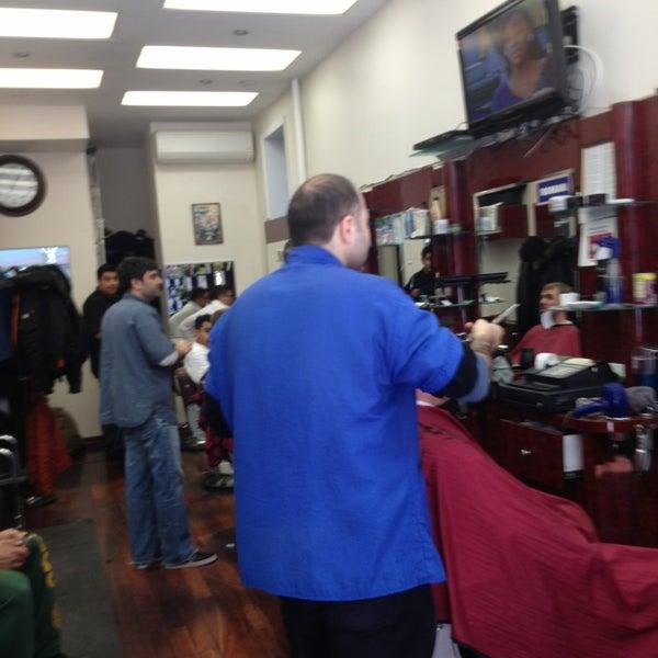 Photo taken at Manhattan Barber Shop by Blake L. on 3/27/2013