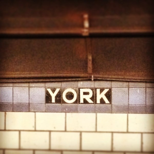 Photo taken at MTA Subway - York St (F) by Hassan E. on 6/12/2013