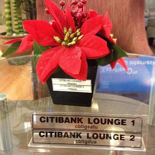 Photo taken at Citibank Lounge by Mdm B. on 12/11/2012