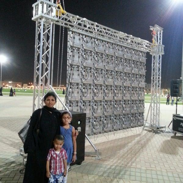 Photo taken at King Abdullah Park by Mahesh B. on 10/2/2013