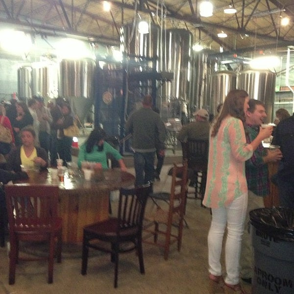 Photo taken at Good People Brewing Company by Stephen P. on 4/21/2013