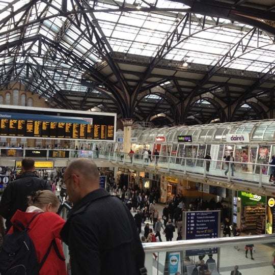 Photo taken at London Liverpool Street Railway Station (LST) by irakliy L. on 9/24/2012