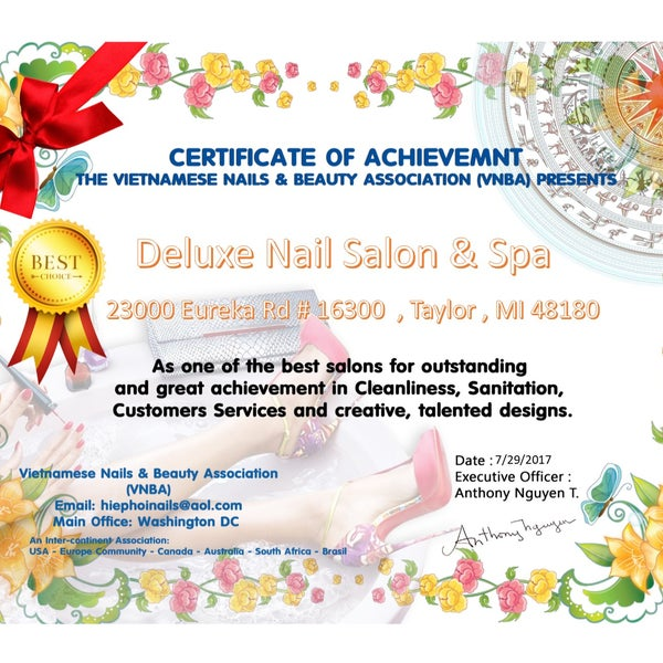 Deluxe Nail Salon & Spa - 23000 Eureka Rd