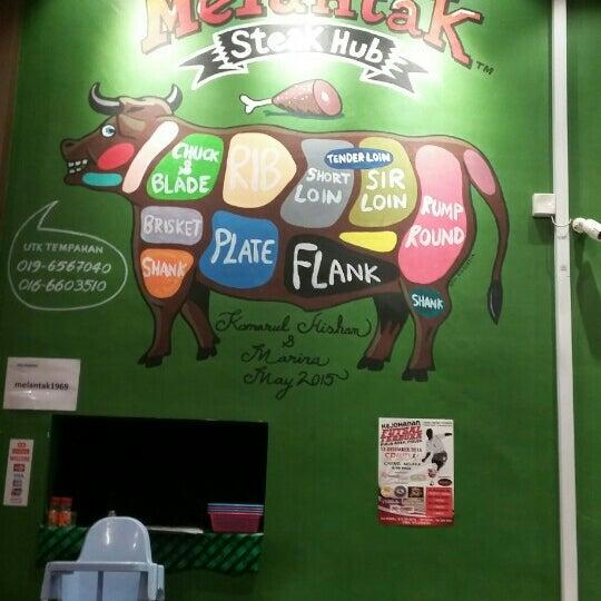 Photo taken at Melantak Steak Hub by Hani F. on 12/30/2015