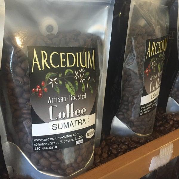 Photo taken at Arcedium Coffeehouse Inc by Kevin M. on 1/3/2016