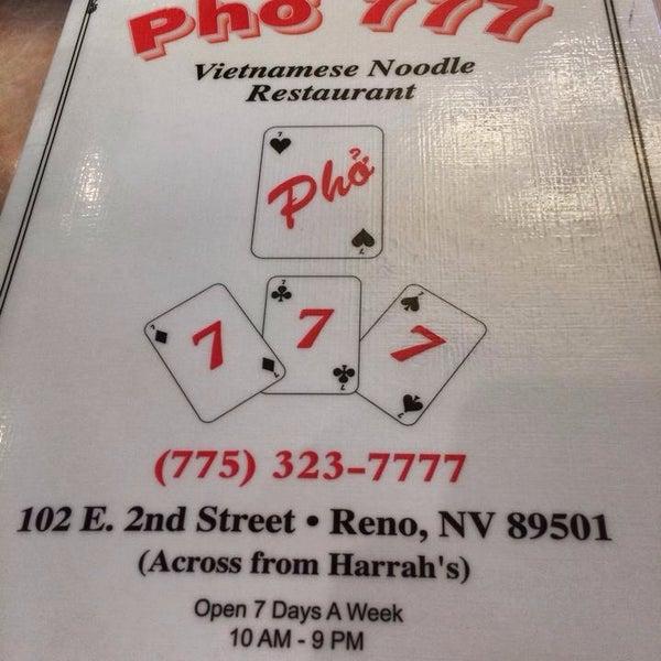 Photo taken at Pho 777 Vietnamese Restaurant by Ben M. on 1/12/2014