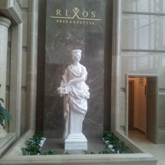 Снимок сделан в Rixos Prykarpattya пользователем Gonca K. 11/22/2012