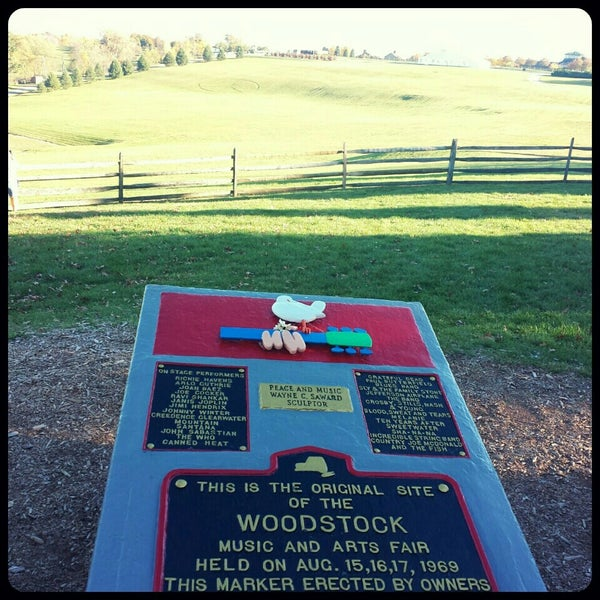 Photo taken at Woodstock Festival Concert Site/Monument by Alicia R. on 10/12/2015