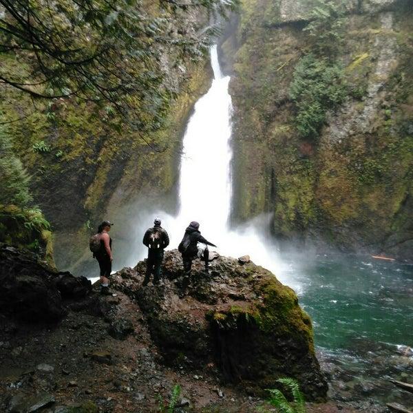 Photo taken at Wahclella Falls Trail by Michael B. on 1/26/2016