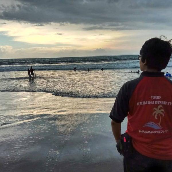 Photo taken at Pantai Barat Pangandaran by Haruna H. on 1/24/2017